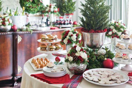 Mesas de postres para la cena de navidad 2017 - 2018 Te van a encantar (25)