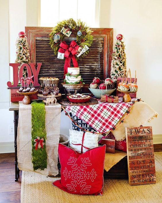 Mesas de postres para la cena de navidad 2017 - 2018 Te van a encantar (8)