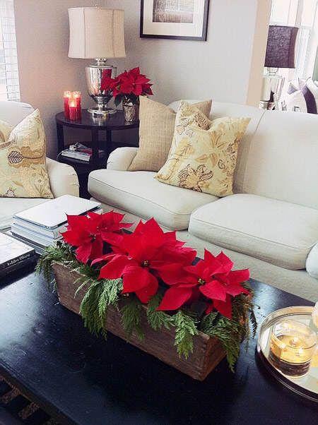 Centros de mesa navideños con flores