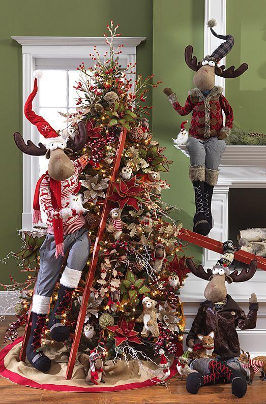 arboles navideños con renos