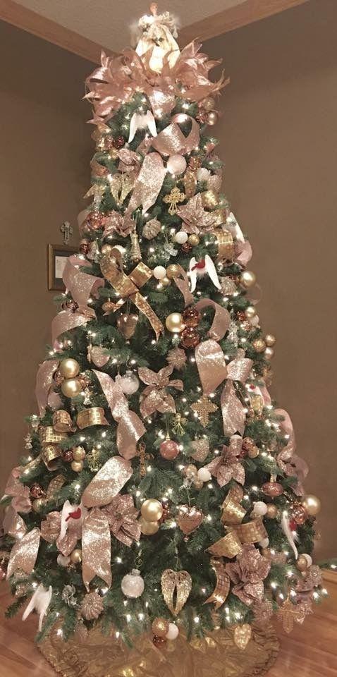 arbol de navidad cobre