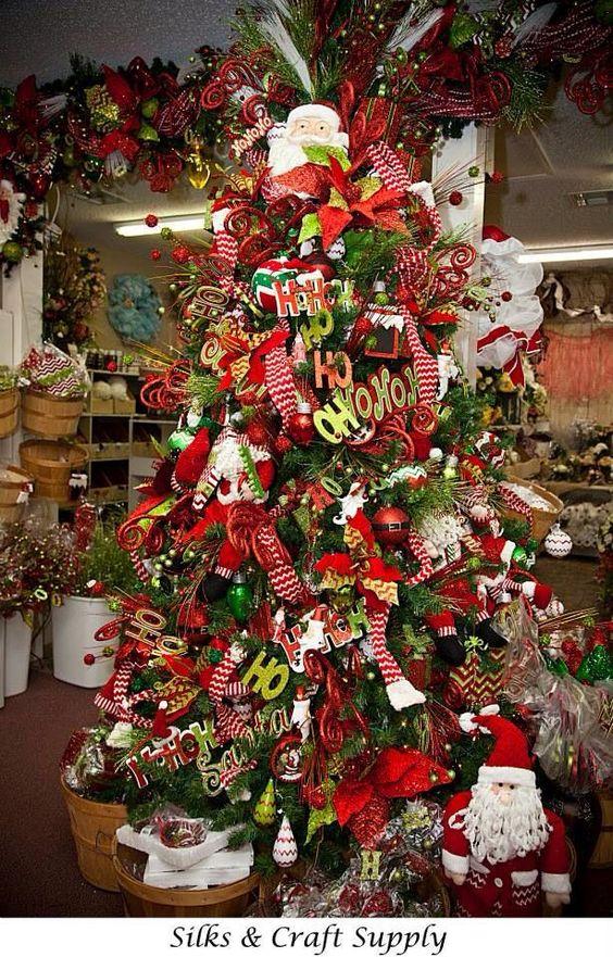 arbol de navidad santa clous