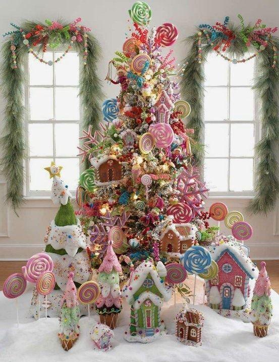 arboles de navidad con dulces