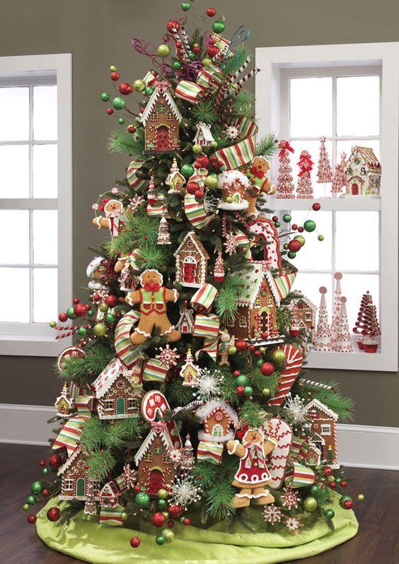 decoracion de arboles navideños con galletas