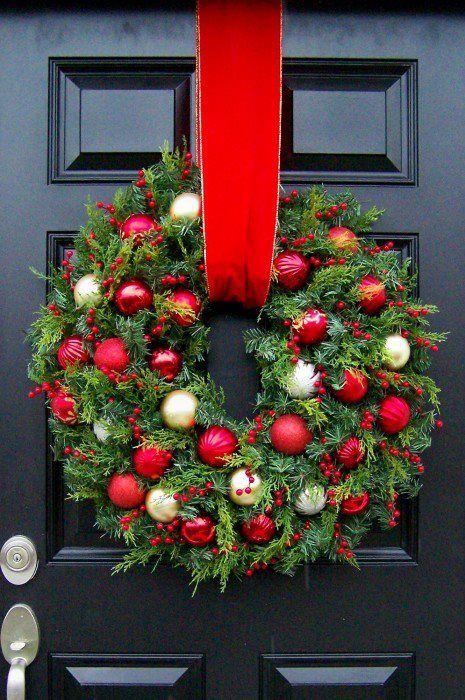 Adornos de navidad para las puertas