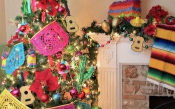 Arbol de navidad con tema mexicano