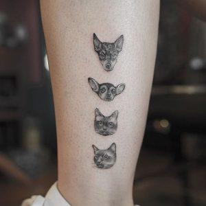 Ideas de Tatuajes sobre Mascotas (3)
