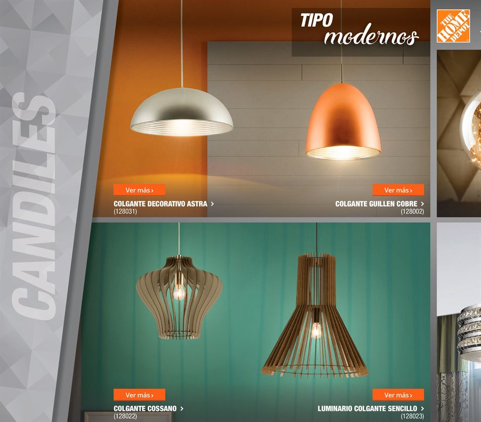 candiles tipo moderno en catalogo de iluminacion 2018 the home depot (1)