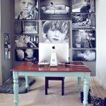 collage de fotos en la pared
