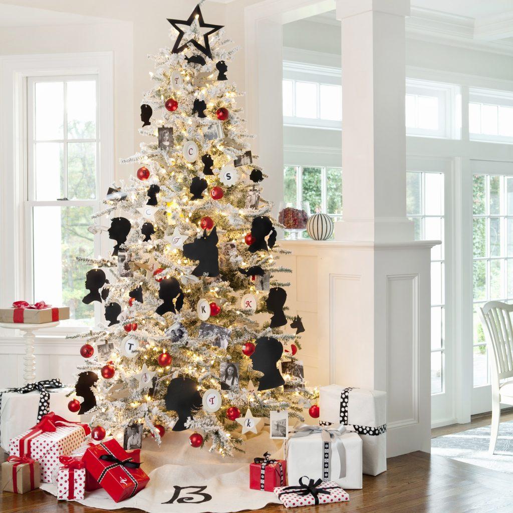 Rboles de navidad blancos decoraci n pinos navide os blancos - Arbol navideno blanco decorado ...