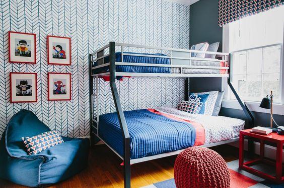 decoracion de habitacion en color azul para ninos
