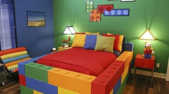 dormitorios en color verde para ninos