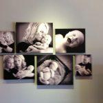 fotos familiares sobre la pared sin marco