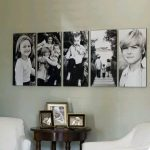 ideas para decorar la pared con fotos familiares