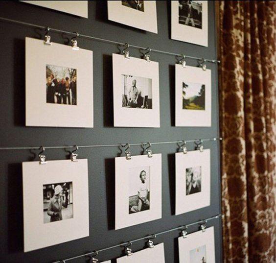 ideas para decorar la pared con fotos familiares (2)