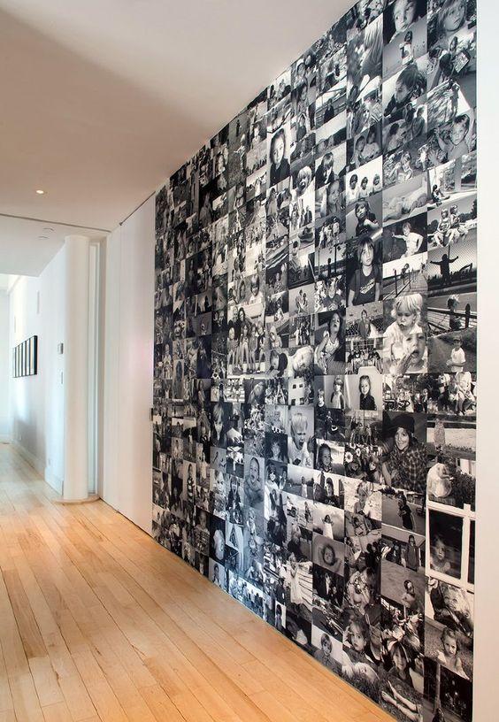 ideas para decorar la pared con fotos familiares (4)