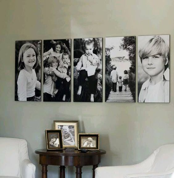 ideas para decorar la pared con fotos familiares