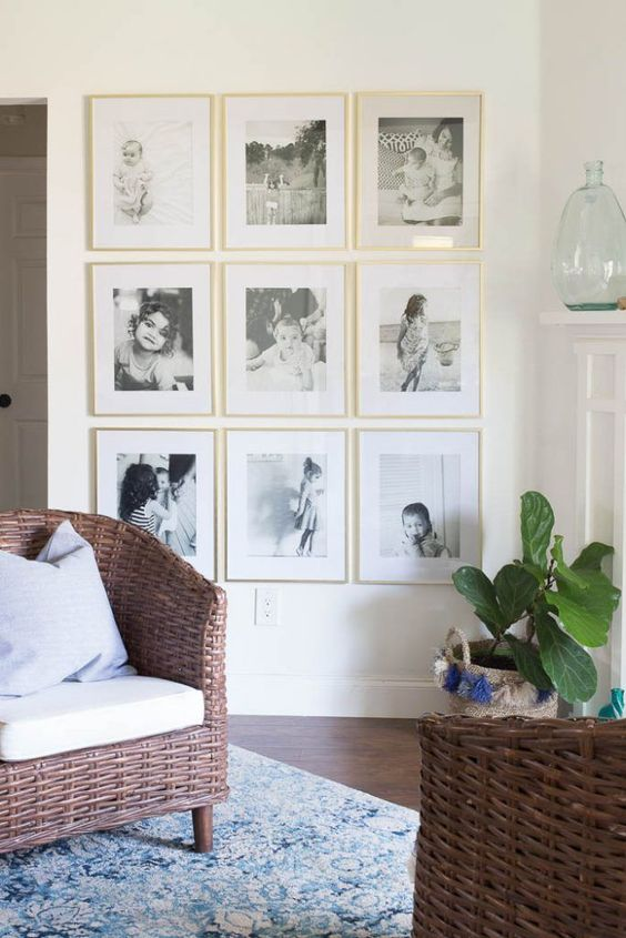 ideas para decorar las paredes con fotos (3)