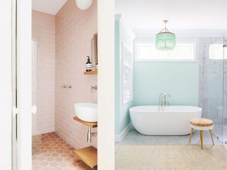 tendencia en colores para decoración de baños 2018
