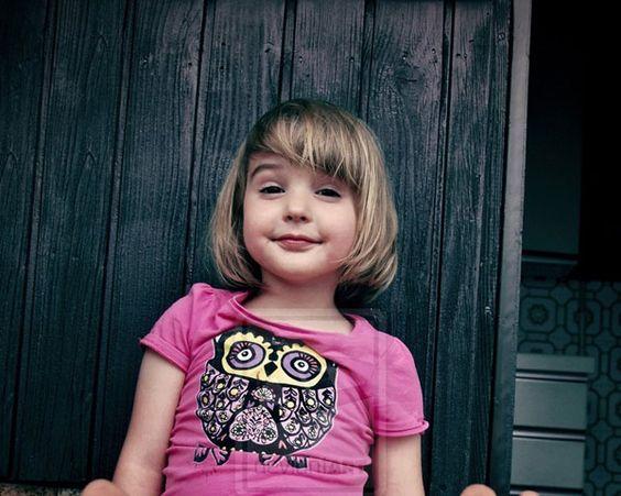 Cortes de cabello para niñas con fleco