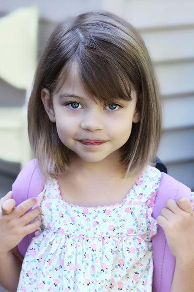Cortes de cabello con flequillo para ninas