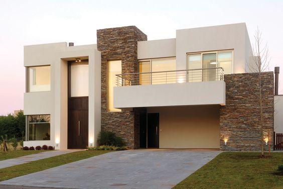 Casas modernas 2018 120 im genes de exteriores e interiores Pisos para exteriores de casas modernas