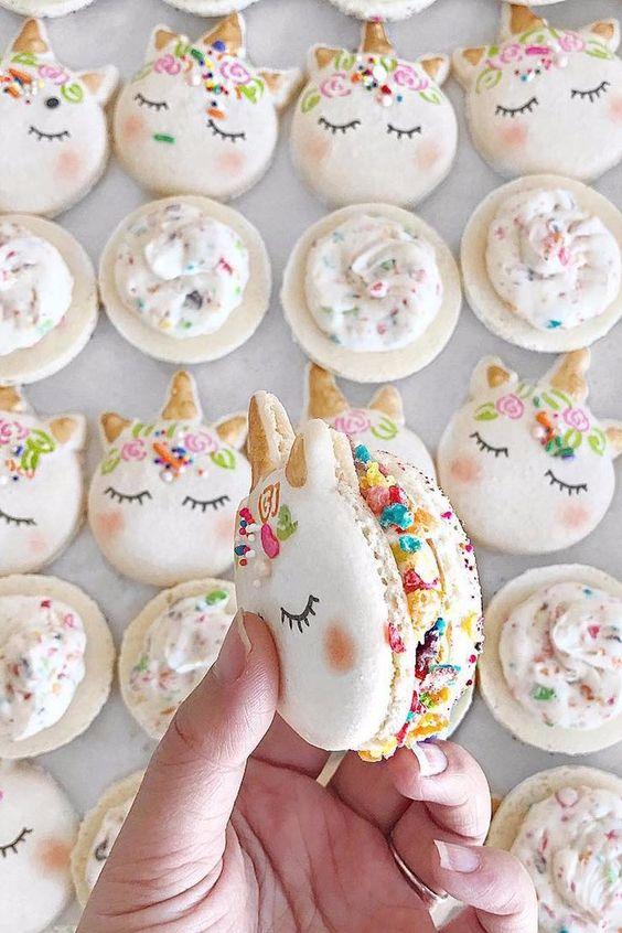 Bocadillos para fiesta de unicornio