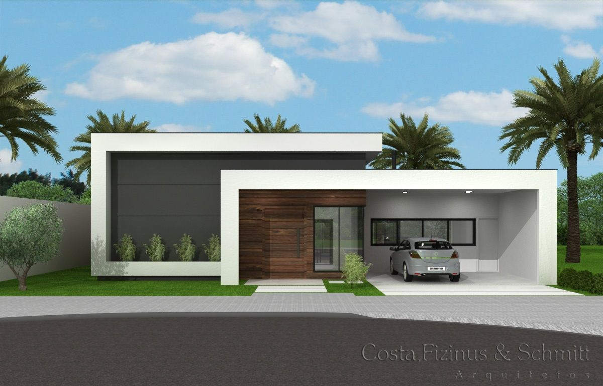 Casas modernas 2018 120 im genes de exteriores e interiores for Fachadas de casas modernas de una planta