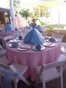 Centros de mesa con tema de princesas