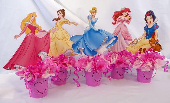 Centros de mesa de princesas