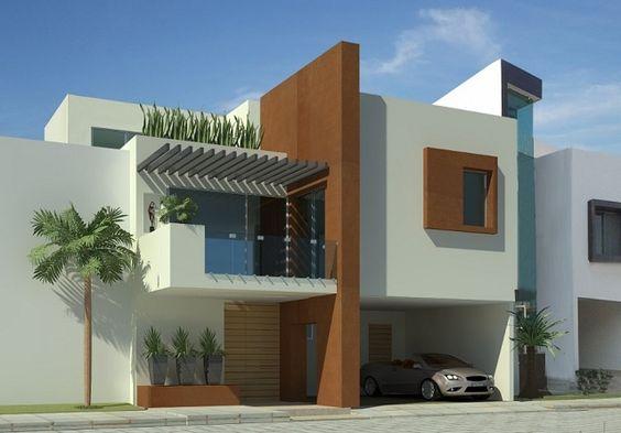 Decoracion de exteriores fachadas colores y m s for Colores exteriores para casas modernas