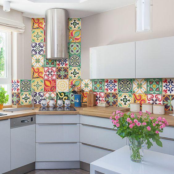 Ideas de decoraci n y como renovar la cocina - Donde comprar pintura para azulejos ...