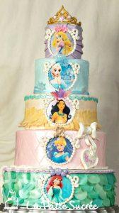 Diseños de pasteles con tema de princesas