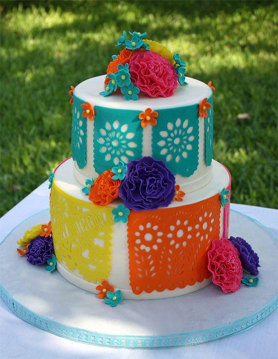 Diseños de pasteles con tema mexicano