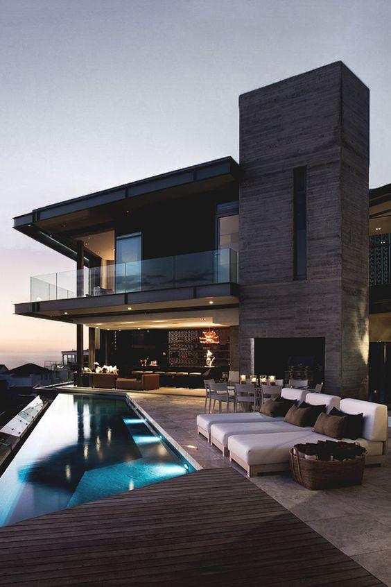 fachada de madera minimalista