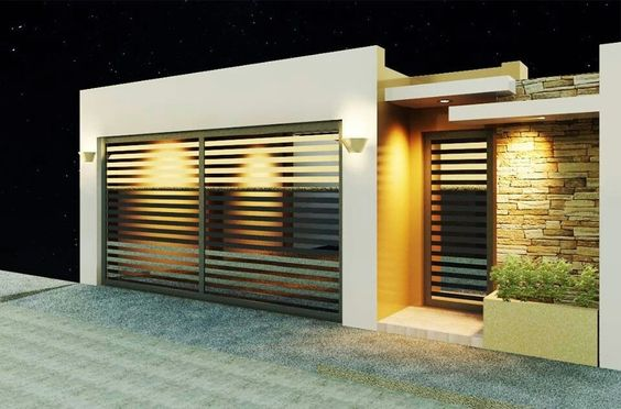 Decoracion de exteriores fachadas colores y m s for Fachadas de casas modernas pequenas de infonavit