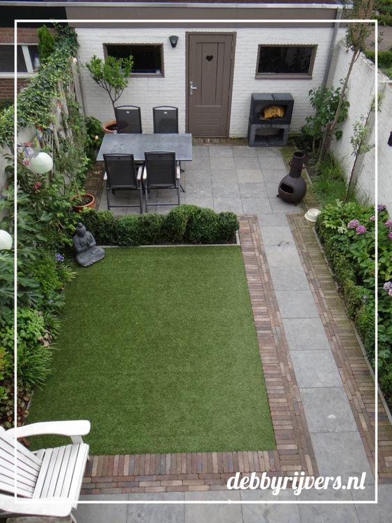 Decoracion de exteriores fachadas colores y m s for Fotos de jardines pequenos