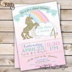 Invitaciones con tema de unicornio