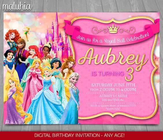 invitaciones de princesas (3)