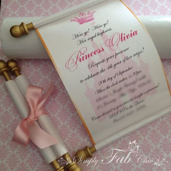 invitaciones de realeza para nina (2)