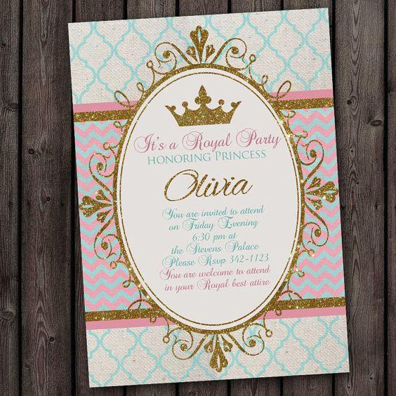 invitaciones de realeza para nina (3)