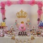 Mesa de postres de princesas