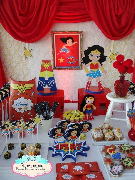 mesas de postres de la mujer maravilla (2)