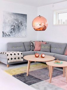 mezcla de colores en decoracion de salas