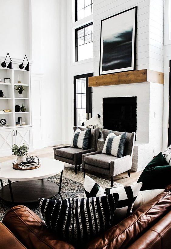 salas modernas con chimenea (2)