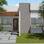 Casas modernas pequenas de una planta terreno de construcción de 48 m2 (3)