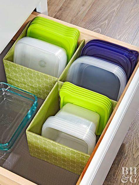¿Cómo ordenar los armarios de la cocina?