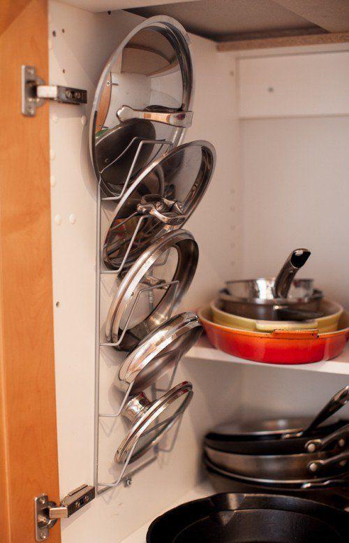 Como organizar las ollas en la cocina