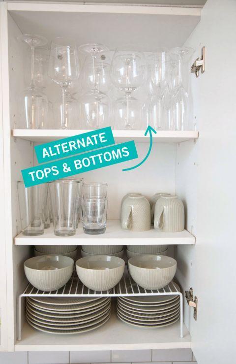 como organizar los vasos en la cocina (3)