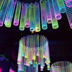 Fiesta de cumpleaños para mujer con tema neon